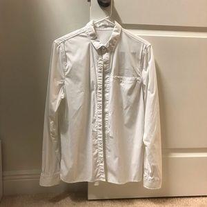 Lululemon men's white buttondown shirt